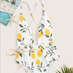 Lemon swim suit! Brand new!